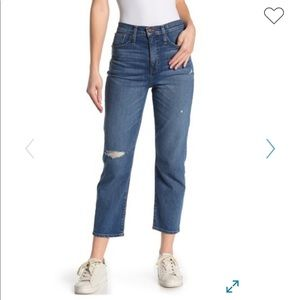 Madewell Cropped Classic Straight Jeans, SZ 27 new
